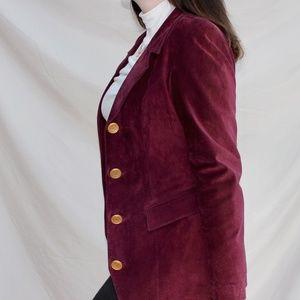 Vintage Burgundy Suede Blazer